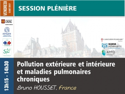 Pollution intérieure et extérieure et maladies pulmonaires chroniques (incluant un survol international sur biomasse, industrie, transports et cigarette électronique)